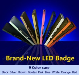 Smd boardS online shopping - 44 Red LED SMD sign scrolling text message name card tag display board advertising Rechargable programmable