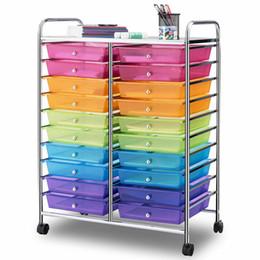 Vente en gros Organisateur de studio de papier de scrapbooking de stockage de Mutli de couleur de 20 tiroirs