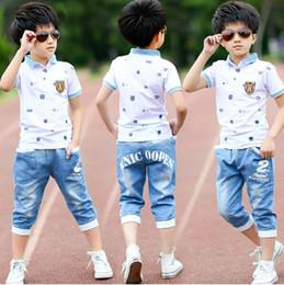 $enCountryForm.capitalKeyWord Australia - 2018 summer boys clothes sport suit set fashion casual short sleeve O-neck children's clothing set 2 pieces T-Shirt +