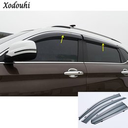 Visor Glasses Australia - Car body styling Stick lamp plastic Window glass Wind Visor Rain Sun Guard Vent 4pcs For Mazda CX-5 CX5 2nd Gen 2017 2018