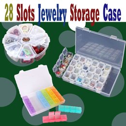 Clear Jewelry Storage Boxes Australia - 28 Slots Adjustable Clear Plastic Jewelry Storage Box Case Craft Organizer Beads