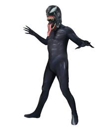 Costume Spandex Movie NZ - 2018 Venom Spider Movie Version Cosplay Costume Superhero Spandex Zentai Spiderman Bodysuit Halloween Cosplay Party suit free delivery