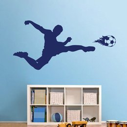 $enCountryForm.capitalKeyWord Australia - Football Soccer Player Vinyl Wall Sticker Decal Boys Bedroom Sports Fan Poster Bedroom Wall Decor