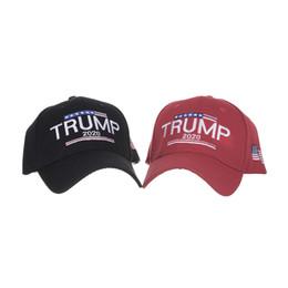 Cappello Trump 2020 USA Flag Baseball Caps America Snapback Cappello Ricamo Trump Berretto da baseball regolabile LJJK1698 in Offerta