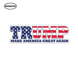 Ingrosso Commercio all'ingrosso 20 pz / lotto Car Styling Donald Trump Make America Grande Ancora Paraurti Autoadesivo Della Decalcomania Camion Bandiera Finestra Impermeabile 13 cm x 7.6 cm