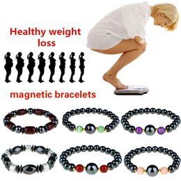 $enCountryForm.capitalKeyWord NZ - Men's Magnet Beads Bracelet Vintage Elastic Round Circle Geometric Magnetic Bracelet Amethyst Black Gallstone Healing Stone Bracelet M187R
