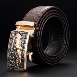 $enCountryForm.capitalKeyWord NZ - 2019 Classical Crocodile Pattern Belts Mens Copper Clasp Belts Fashion Design Waistband High Quality Genuine Leather Belt