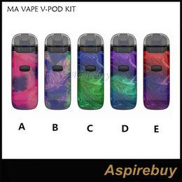 Battery ma online shopping - MA VAPE V POD KIT Resin Vape Pod System Vaporizer Kit mAh Battery Mod with Yihi Chip ml Cartridge Tank vs MiniFit Authentic