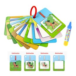 typing board UK - 3 Types Water Drawing Learning Card & 1 Magic Pen Coloring Paper Cards Painting Board Educational Toys for Kid English Learning