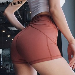$enCountryForm.capitalKeyWord NZ - High Waist Workout Shorts Women Solid Tight Shorts Push Up Gym Fitness Short Pants Compression Yoga For Women Active Wear #75132
