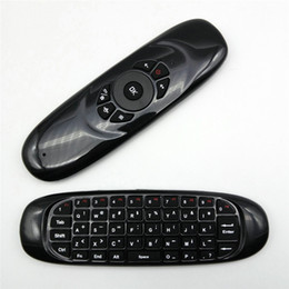 Wholesale C120 G air mouse Wireless remote control Keyboard D Somatic handle for Android TV Box Computer English Version