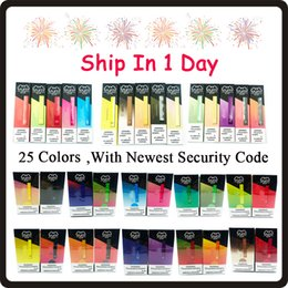 Wholesale Puff Bar Disposable Vape Pens Capacity 1.3ml Vape Cartridges Puff 280mah Battery Starter Kit Non-Rechargeable Vapes display box 25 colors