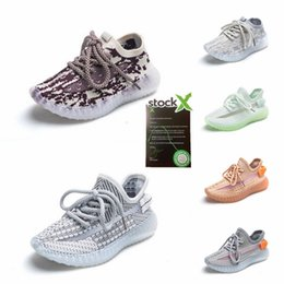 Kinderschuhe Foam Runner Kanye West Slides Sandalen Resin Knochen Earth Brown Desert Sand Strand Kleinkind Slipper Baby-Jungen-Kinder Slippers # 34