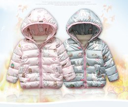 Cartoon Rabbit Hoodies Australia - little baby girls hoody long sleeve pink rabbit unicorn kids jacket winter autumn coat outfit cute cartoon outwear children hoodies zip