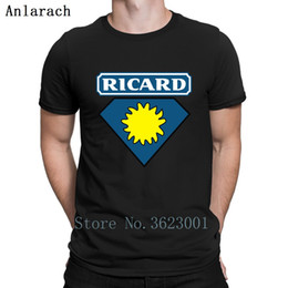 Ricard Superman T Shirt Top Quality Authentic Customized Slim Fit T Shirts Gents Men Fashions Spring 2019 Men's