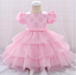 Cupcake Tutu Australia - 2019 Newborn Baby Girls Gown for Baptism Christening 1st Birthday Infant Dresses Cupcake Dress Party Prom Toddler Girl Party Dresses
