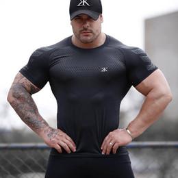 $enCountryForm.capitalKeyWord Australia - 2019 Gym Shirt Sport T Shirt Men Fitness Running Shirts Black print Short Sleeve Workout T Mens Tops Rashgard Sportswear