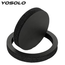 car bass sound Canada - YOSOLO PS Material Self Adhesive Sound Insulation Cotton Bass Door Trim Acoustic Foam Interior Accessories Car Speaker Ring