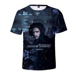 Funny purple costumes online shopping - 2019 Game of Thrones T Shirt Night King Dragon D Print Men s T shirt Summer Hip Hop Short Sleeve Funny T Shirts Cosplay Costume