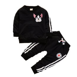 39762236 Shirt baby dog online shopping - Spring Autumn Children Boys Girls Clothing  Suits Fashion Baby Embroidery