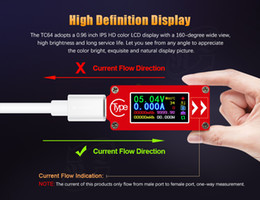 usb charger cable dc Australia - 10Pcs USB Type-C DC Voltmeter Ammeter Voltage Current Meter Battery PD Charger Measure Cable Capacity Temperature Tester