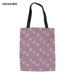 $enCountryForm.capitalKeyWord Australia - INSTANTARTS Hippocampus Lovely Patterns Shopper Bag Women Casual Canvas Brand Custom Big Tote Shopping Handbags Bolsa de lona