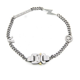 Wholesale power metals online – design 19ss ALYX necklace Bracelet Metal Chain Men Women Hip Hop Outdoor ALYX Street Accessories Smile Necklace