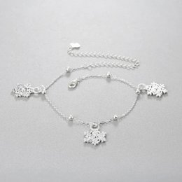 anklet Australia - Chandler 1pcs Anklet Foot Chain 2019 New Summer Snowflake Beach Leg Bracelet Charm Anklets Jewelry Gift Bithday Gift Wholesale