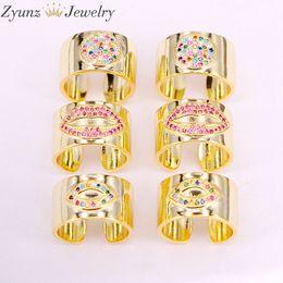 $enCountryForm.capitalKeyWord Australia - 5PCS, Lip Eye Round CZ Ring Gold Color Women Fashion band full-Finger Rings girl WEDDING elegant ring