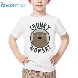 $enCountryForm.capitalKeyWord Australia - Kids Cute Wombat Print T shirt Children Summer Short Sleeve White Tops Boys and Girls Funny Animal Design T-shirt,HKP4213