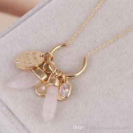 necklaces pendants Australia - 2018 New arrival Natural stone ivory conical pendant short necklace clavicle chain in 49cm length necklace Henri. PS6083