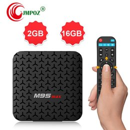 android set top box quad NZ - 1 PCS factory OEM ODM M9S MAX Android 7.1 TV BOX 2GB 16GB Amlogic S905W Quad Core Set-top box H.265 4K 2.4GHz WiFi IPTV Box Better T95Q T9