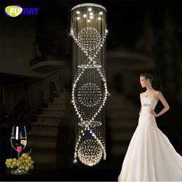 $enCountryForm.capitalKeyWord Australia - FUMAT K9 Crystal Chandelier Modern Lustre Crystal Ceiling Living Room Spiral Lighting Large Hanging Lamp LED k9 Chandelier Lamps
