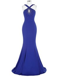 $enCountryForm.capitalKeyWord UK - Halter Royal Blue Mermaid Prom Dresses Beaded Simple Elegant Chiffon Long Evening Dresses Keyhole Neck Formal Evening Dress