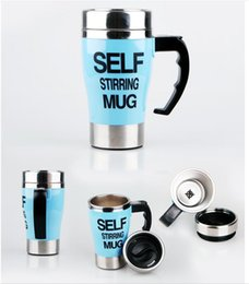 lazy mug Australia - automatic Stir Coffee cup Lazy electric Mug stainless steel electric Rotate Coffee cup new style factory wholesale