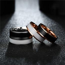 $enCountryForm.capitalKeyWord NZ - Stainless Steel Circle Black Rings Blank Tail Finger Rings Couple Ring Lovers Jewelry luxury designer jewelry women rings drop ship