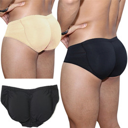 Wholesale sexy panties padding online – Man Body Shaper Underwear Padded Butt Lifter Briefs Panties Back Strengthening Double Removable Fake Ass Sexy Push up Cup Bulge Bodyshaper