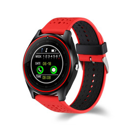 german books NZ - V9 Bluetooth Smart Watch 1.2 inch HD IPS Display OGS Touch Screen HD Camera SIM TF Card Slot SMS Call Phone Book Sports Bracelet