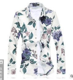 Satin Types NZ - 2019 New type Men's Clothes Broken Flower Long Sleeve Shirts polos Hair Stylist tees Leisure Nightclub large size T shirts 4 colour M-7XL