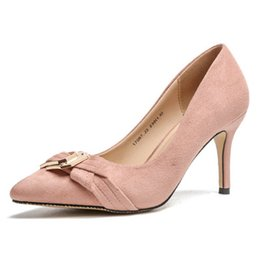 $enCountryForm.capitalKeyWord UK - Europe and the United States professional new hot pointed super high heels fashion buckle women's shoes solid color shallow heel shoes