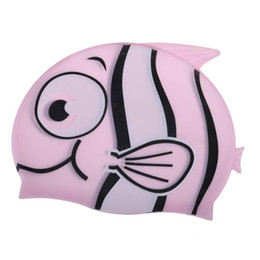 $enCountryForm.capitalKeyWord Australia - New Children Cartoon Swimming Cap Silicone Diving Waterproof Swim Hat Kids Girl Boy Favor Bathing Cap With Fish Shark Pattern