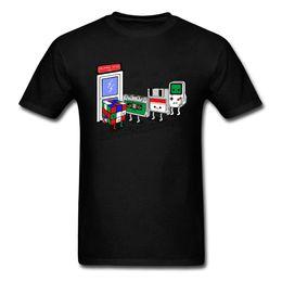 $enCountryForm.capitalKeyWord Australia - Employment Office Tshirt For Men Funny Summer T Shirts Game Devices Cartoon T Shirt Cube Cassette Chip Tops Tees Retro
