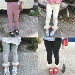 Gray Leggings Wholesale Australia - 2019 new Kids Leggings lace princess Girls Leggings cotton Casual Girls Trouser Kids Pants skinny pants Girls Lace Tights kids clothes A4185