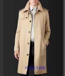 British wool clothing online shopping - lager size men clothing Free shopping British business casual single breasted long coat Slim Men windbreaker S XL