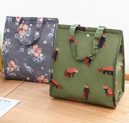$enCountryForm.capitalKeyWord Australia - Portable Insulated Oxford Cloth Lunch Storage Bag Thermal Picnic Lunch Bags For Women Kids Men Print Box Bag Tote