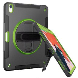 dark green ipad case Australia - For Ipad Pro 12.9 Enhance Design PC TPU Full Body 360 Degree Rotating Turntable Protection Case
