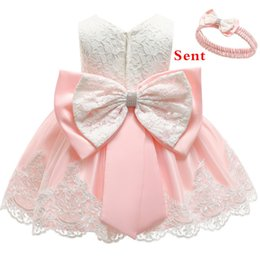 $enCountryForm.capitalKeyWord Australia - Baby Dress Sequin Lace Flower Christening Gown Baptism Clothes Newborn Kids Girls Birthday Princess Infant Party Costume Q190604