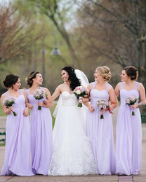 Full Length Party Dresses NZ - Lavender Lace Chiffon Long Bridesmaid Dresses 2019 Cap Sleeve Full length Country Bohemian Maid of Honor Wedding Guest Party Dress
