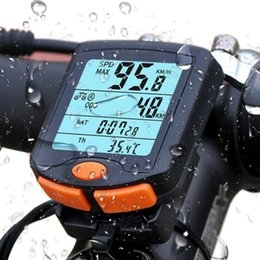 Speedometer Bike Computer Australia - Bicycle Computer Bike Computer Speedometer Digital Odometer Stopwatch Thermometer LCD Backlight Rainproof Table P5 #233188