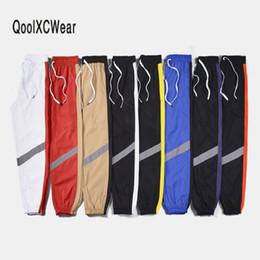 $enCountryForm.capitalKeyWord Australia - wholesale Men Pants Reflective strip Vintage Color Block Hip Hop Pants Patchwork Men Pants Street